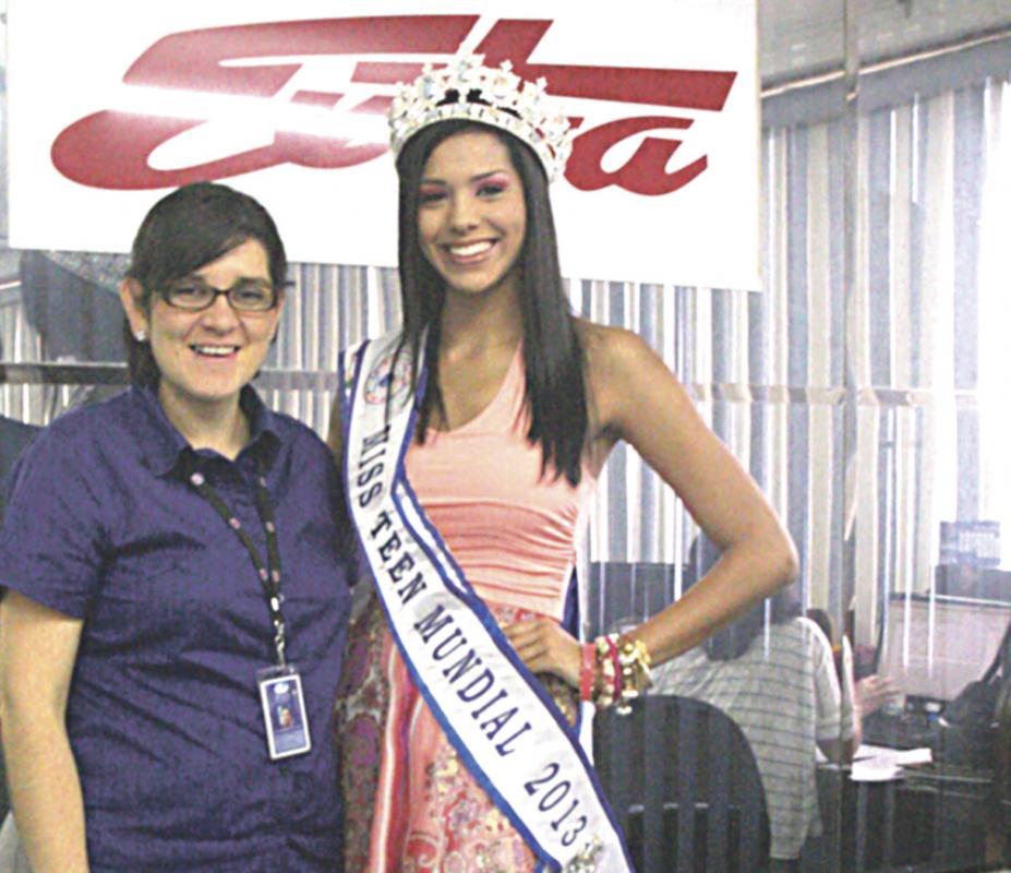 Con Paola Hernández, subdirectora de DIARIO EXTRA