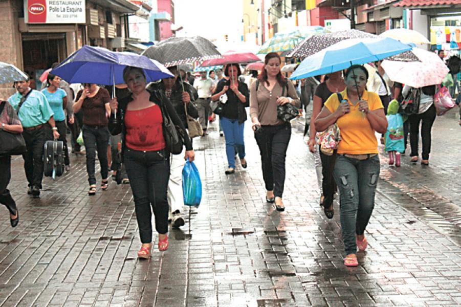 Las precipitaciones afectarán sobre todo al Caribe Norte mañana de hoy, sin embargo el resto del país también presentará condiciones lluviosas y de nubosidad