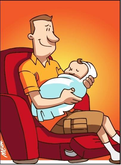 Diario extra pap s con 8 d as para disfrutar a su beb for Derecho de paternidad