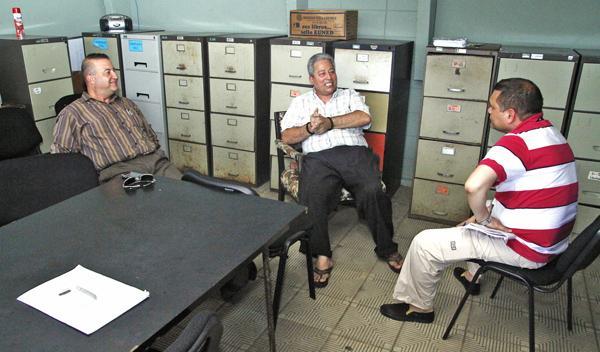 El abogado Humberto Méndez acompañó a Chaves durante la entrevista
