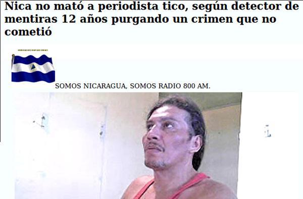 La noticia publicada por DIARIO EXTRA estremece los medios nicaragüenses