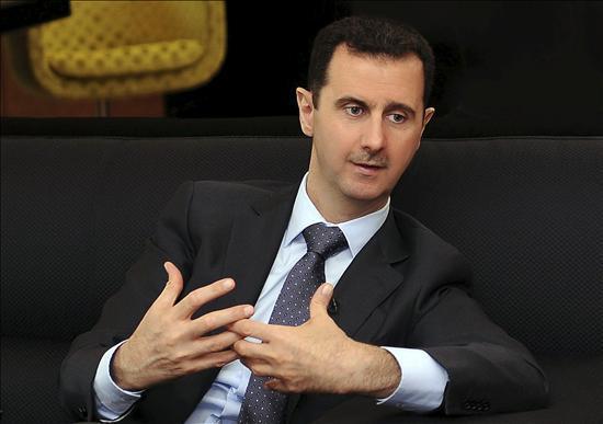 Fotografía facilitada por la Agencia de noticias siria SANA del presidente de Siria, Bachar al Asad