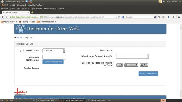 ccss citas web cr