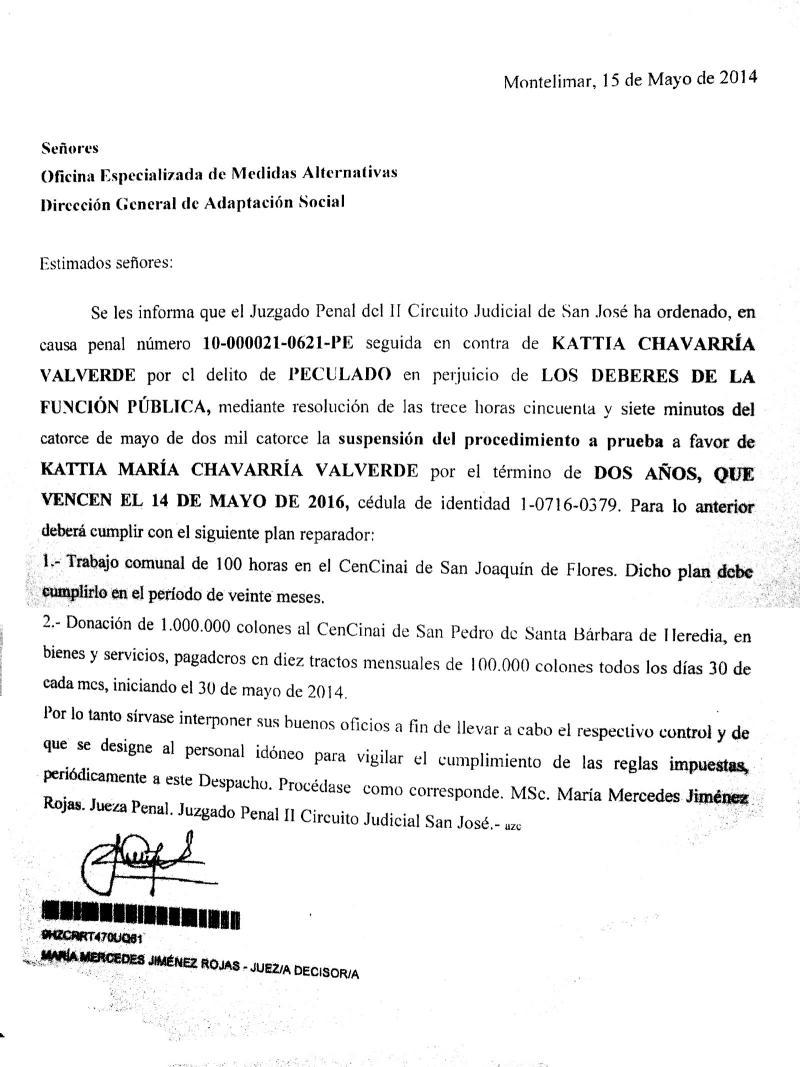 Circuito Judicial Penal : Diario extra jefa policial negocia delito por peculado
