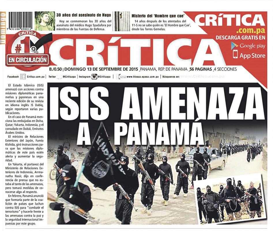 Diario Extra Grupo Islamico Amenaza A Panamá