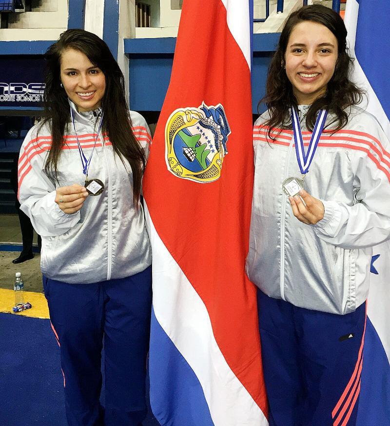 Costa Rica logra oro y plata en esgrima