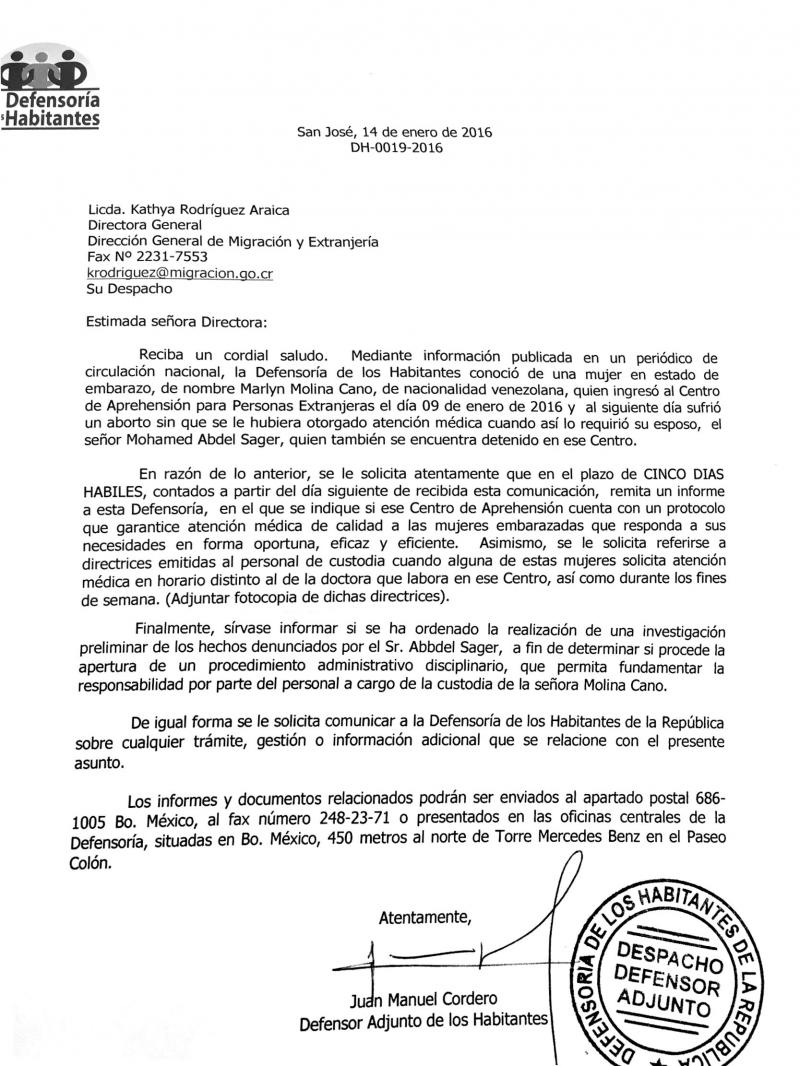 Diario extra migraci n debe entregar hoy informe por for Ministerio de migracion
