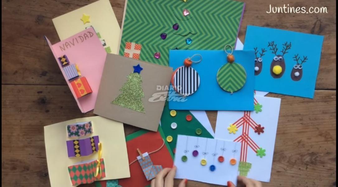 Diario extra tarjetas navide as para hacer con ni os - Postales navidenas para hacer ...