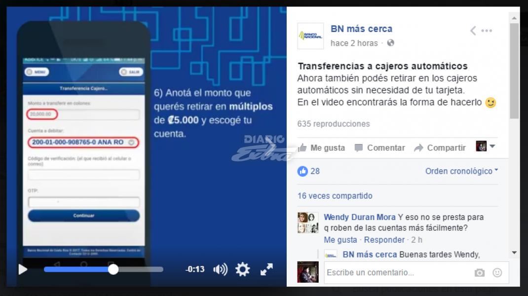 Diario extra banco nacional habilita retiro de dinero for Cuanto dinero se puede sacar del cajero