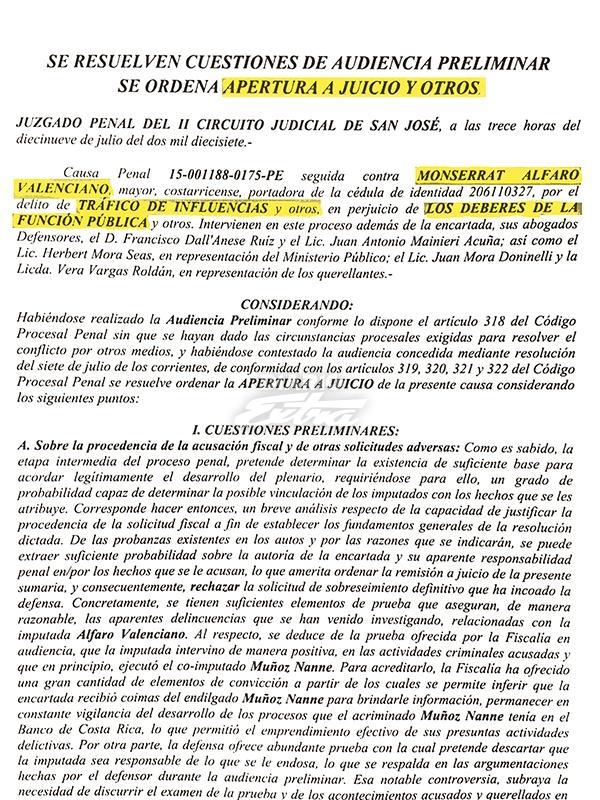 Circuito Judicial Penal : Diario extra envían a juicio abogada del bcr y empresario