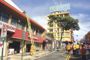 Los bomberos controlaron la situación