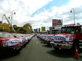 Con equipo moderno, el Cuerpo de Bomberos luchará contra incendios en diferentes partes del país