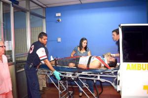 José Chaves, conductor de la motocicleta,  ingresó delicado al Hospital Escalante Pradilla