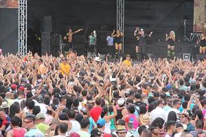 En Palmares hubo una gran fiesta en el aire. Era como un horno grande