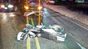 El accidente dejó herido a José Méndez Murillo, de 23 años