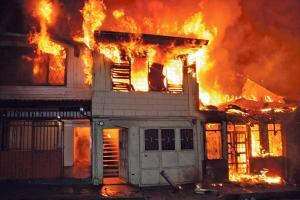 En segundos el Barrio Los Ángeles se convirtió en un infierno