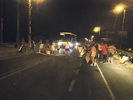 Las mujeres salieron de sus casas a las 5 a.m. para comenzar la protesta.