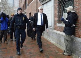 El abogado Timothy Watkins asiste a la corte federal Joseph Moakley, en Boston, Massachusetts, Estados Unidos, durante el primer día del juicio contra Dzhokhar Tsarnaev