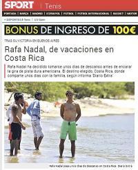 El sitio Sport de España destacó las fotos tomadas por DIARIO EXTRA en exclusiva a Rafael Nadal