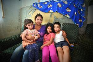 La familia permaneció unida tras la explosión