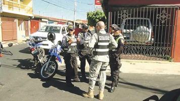 Hubo gran presencia policial en el sitio