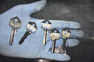 Este es el juego de llaves que le dio según el tribunal, el jefe de supervisión a los privados de libertad