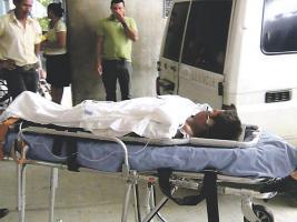 Al menor lo llevaron al Hospital de Guápiles