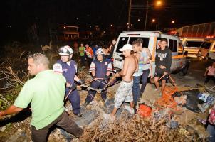 Unidades de Cruz Roja buscaron al hombre