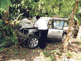 La víctima murió tras estar prensado varios minutos dentro del vehículo