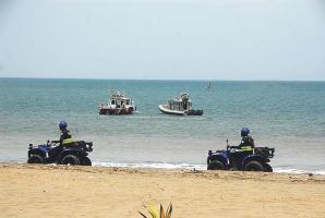 Mientras la Fuerza Pública recorre las playas del Pacífico, en el MOPT no cuentan con el equipo ni personal para vigilar mar adentro