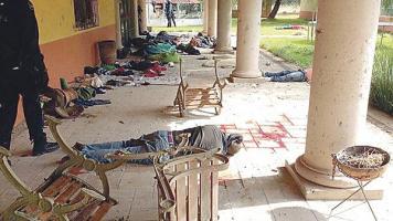 Los cuerpos quedaron tirados en una propiedad