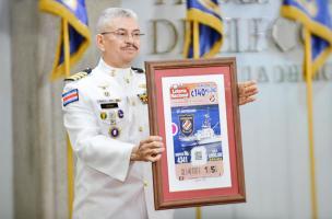 Martín Arias, director de Guardacostas, mostró un reconocimiento que le hizo la JPS