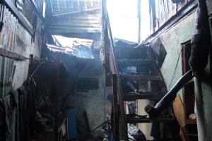 La vivienda resultó con daño total, no se logró salvar nada