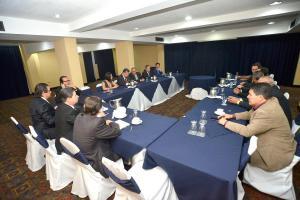 Los presidentes de clubes se reunieron con el presidente interino de la Fedefútbol, Jorge Hidalgo