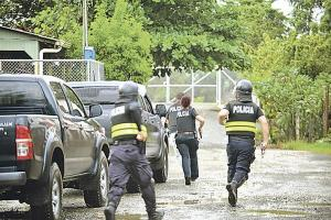 En uno de los operativos hubo detonaciones hechas por la policía, el despliegue fue mayor