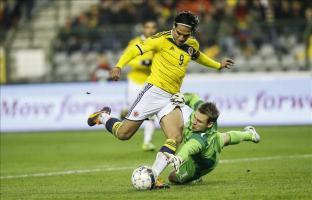 El Chelsea anuncia el fichaje de Falcao El jugador de Colombia, Radamel Falcao García (i), anota un gol. EFE/Archivo