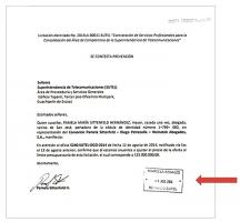 En este documento el consorcio Pamela Sittenfeld-Diego Petrecolla-Weinstok Abogados S.A. se ampara para desmentir a la frenteamplista Patricia Mora