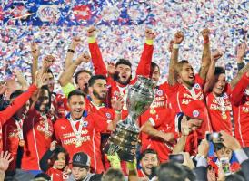 Chile celebra su primer título de Copa América