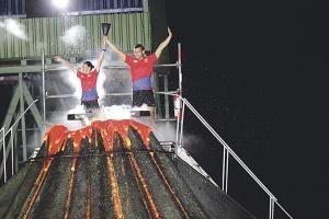 El pebetero se ubicó sobre una escenografía que simulaba el volcán Arenal; el encendido estuvo a cargo de los atletas norteños, Cristina Marín y Juan José Dobles