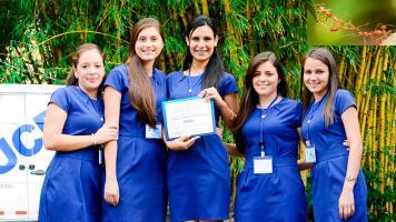 Verónica Chaves, Yuliana Quirós, Natalia Arrieta, Sharon Picado y Teresita Rodríguez. (Fotos: Cortesía ODI)
