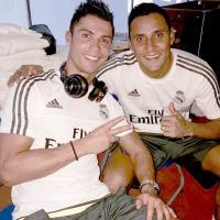 Keylor Navas celebró la victoria subiendo esta foto junto a Cristiano Ronaldo