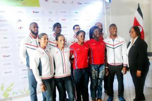Parte de la delegación con que contará Costa Rica para el Campeonato de Atletismo que se llevará a cabo en el país. (Foto: David Barrantes)