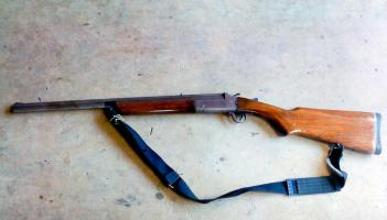 Una escopeta como esta andaba el nicaragüense