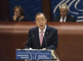 La ONU alaba el plan climático de Obama y lo ve clave para animar a más países El secretario general de la ONU, Ban Ki-moon. EFE/Archivo
