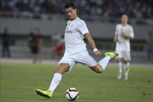 Cristiano y Benzema no viajan a Múnich por lesión El delantero portugués del Real Madrid, Cristiano Ronaldo. EFE