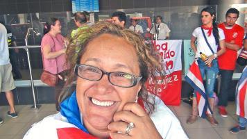 Leydi Fernández, madre de la atleta Carolina Loría, mostró el orgullo que le hizo sentir su hija al ganar tres oros y un bronce en gimnasia rítmica