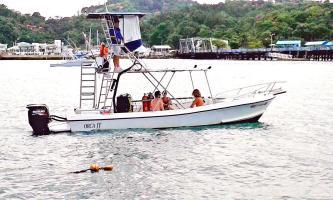 Guardacostas detuvo al hombre en esta embarcación de pesca deportiva