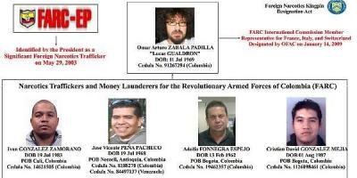Esta es parte de la estructura narcotraficante que operaba en Suiza y que mandaba dinero a Costa Rica. / Foto tomada del Departamento del Tesoro de los Estados Unidos.