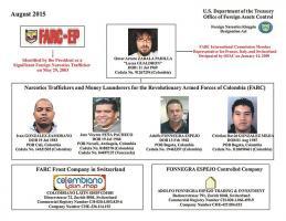 Estos son los colombianos señalados por el Departamento del Tesoro como responsables de conformar un grupo de narcotráfico que operaba desde Suiza