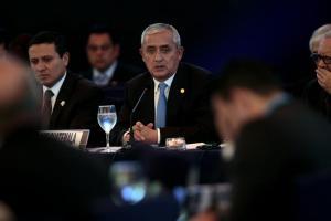 El presidente de Guatemala, Otto Pérez Molina (c). EFE/Archivo